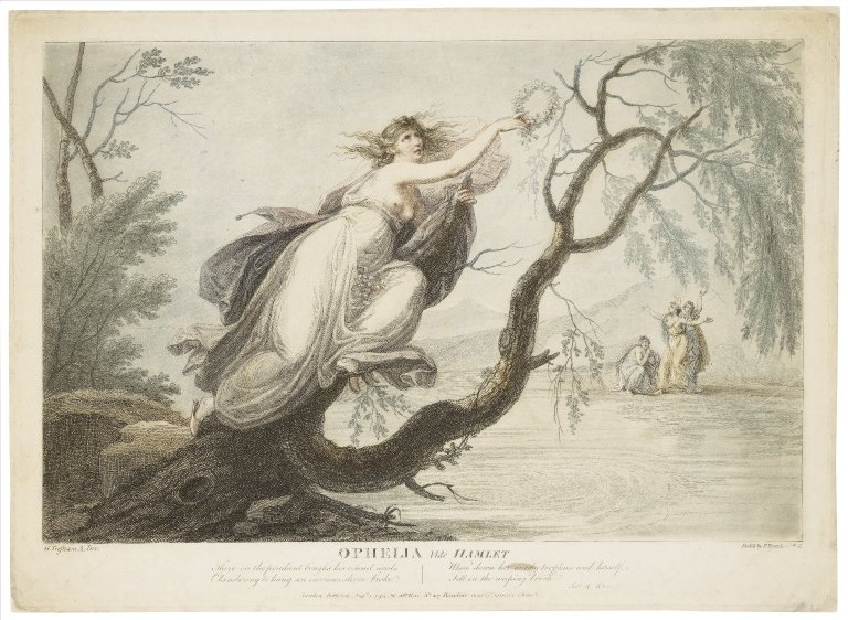 Folger Digital Image Collection: Ophelia ... [character in] Hamlet [graphic] / H. Tresham A., inv. ; etch'd by F. Bartolozzi R.A.
