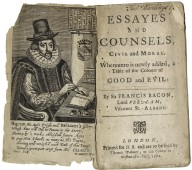 Essayes and counsels, civil and moral.