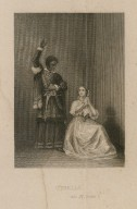 Othello, act IV, scene 2 [George Bennett as Othello and Jane Bennett as Desdemona] [graphic] / [engraved by Thomas Sherratt].