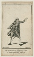 Othello ... [graphic] : Mr. Bensley in the character of Iago / J. Roberts, ad viv. del., C. Grignion, sc.