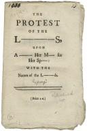 The protest of the L---s, upon a- Her M- for Her Sp-: with the names of the L--ds.
