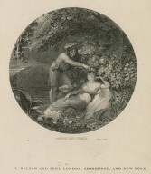 Oberon and Titania, [Midsummer night's dream, act II, sc. 2] [graphic] / [painted by H. Howard R.A. ; engraved by J.C. Edwards].