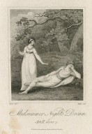 Midsummer night's dream [Helena and Lysander] [graphic] : act II, scene 3 [i.e. 2] / Rivers, delt. ; Ridley, sculpt.
