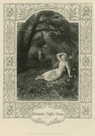 Midsummer night's dream, act 3, sc 1, [Titania awakening to see Bottom in the ass's head] [graphic].