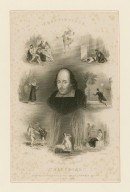 The Burbage portrait, Tragedies [Shakespeare surrounded by scenes from his tragedies, copy of the Felton portrait wrongly attributed to Burbage] [graphic] / T.D. Scott ; G. Greatbach.