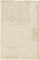 Letter from Henry Cavendish, Tutbury, Staffordshire, to Elizabeth Hardwick Talbot, Countess of Shrewsbury