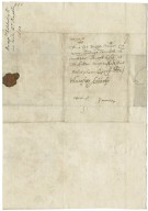Letter from Humphrey Adderley, Lincoln's Inn, to Walter Bagot