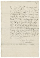 Letter from John Broughton to Richard Bagot
