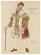 Costume design for Alonzo, the Tempest