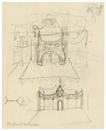 "Preliminary set design sketch for ""The devil is an ass"" (by Jonson)"