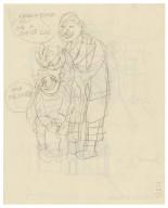 Cartoonish sketch of two figures