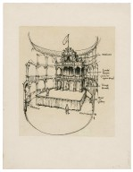 "Reconstruction sketch ""The Theatre"" 1576"