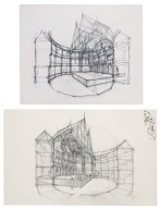 Sketches of the Second Globe interior