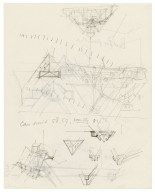 Sketches of architectural details of the Second Globe