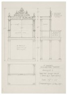 St. Georges Theatre, design for three-part stage-house (center unit, upper frame)