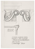 St. Georges Theatre, design for detachable moulded capitals for stage-house pillars