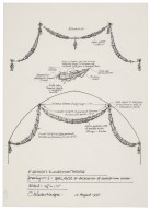 St. Georges Theatre, design for garlands for decoration of auditorium arches