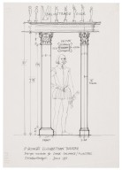 St. Georges Theatre, design for stage columns/pilasters
