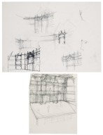 Sketches of the interior of the Second Globe
