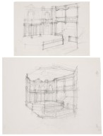 Sketches for a reconstruction of the interior of the Cockpit Playhouse
