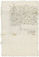 Letter from Sir William Winter, London, to Richard Bagot (sheriff)