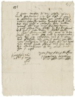 Letter from Humphrey Wryley, Hampstead, to Walter Bagot