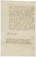 Letter from Robert Meverell?, Throwley, to unidentified recipient