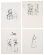 """Sketches for illustrations for """"Playhouse Tales"""""""