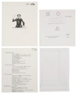 """Sketches and notes for illustrations for """"Playhouse Tales"""""""