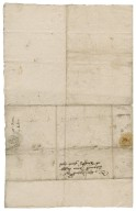 Town of Brinton's request for an alehouse license to Nathaniel Bacon