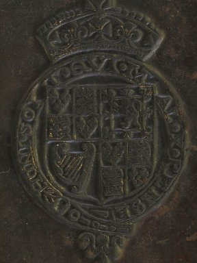 Coat of arms (detail), PA4216 A2 W8 1571b cage.