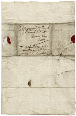 Letter from James Shiers to Sir Thomas Wentworth, bart., Bretton, Yorkshire
