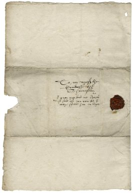 Letter from George Talbot, Earl of Shrewsbury, to Elizabeth Hardwick Talbot, Countess of Shrewsbury