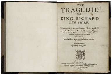 [King Richard III] The tragedie of King Richard the third.