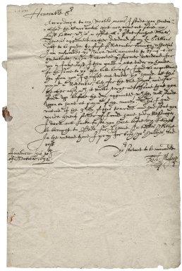 Mason, Richard. To Roger Townshend, 1st bart. October 20, 1632.