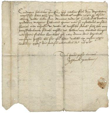 Letter from John Parker, Dublin Castle, to Thadeus O'Carroll (Okewell, Okarell)