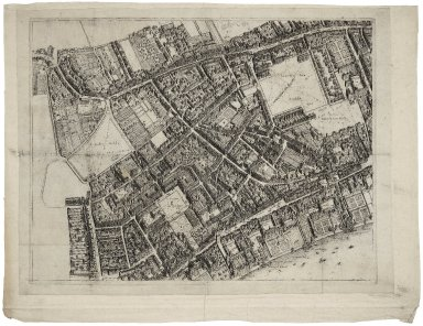 [Bird's-eye plan of the west central district of London] [graphic] / [Wenceslaus Hollar]