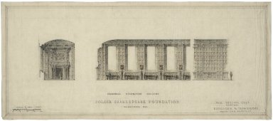 "Architectural Drawing of Proposed Elevation: Memorial Exhibition Gallery, no.6. 24.5""x11"""