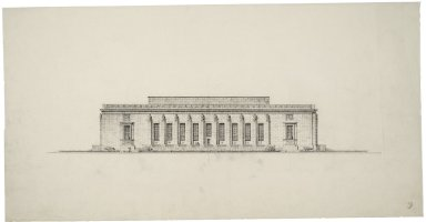 "Architectural Drawing of Proposed Elevation: [E. Capitol St. Elevation], ms. 10. 28""x14"""