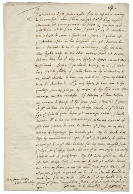 Autograph letter signed from John Donne to Sir George More [manuscript], 1614 December 3.