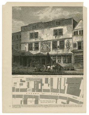 The Fortune Playhouse, Golden Lane ... [print plus map of area] [graphic] / Shepherd, del. 1811, Wise, sculp.
