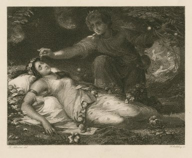 [Midsummer night's dream, act II, sc. 2, Oberon and Titania] [graphic] / Fr. Schwörer, del. ; G. Goldberg, sc.