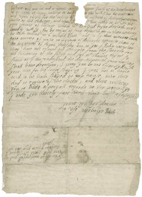 Letter from Nicholas Booth to Mr. Thomas Kniveton