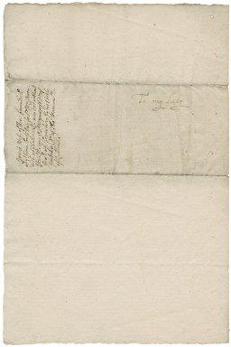 Letter from Grace Cavendish, Dowbridge, Derbyshire, to Elizabeth Hardwick Talbot, Countess of Shrewsbury