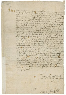 Letter from Henry Cavendish, Coldharbour (Coleherbert), London, to Elizabeth Hardwick Talbot, Countess of Shrewsbury