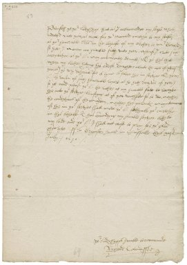 "Letter from Richard Cavendish, ""Grymston haule in Suffolke"" (i.e. Grimston End, Suffolk?), to Elizabeth Hardwick Talbot, Countess of Shrewsbury"