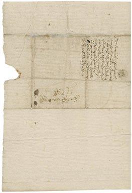 Letter from Sir William Cavendish, Chatsworth, Derbyshire, to Lady Elizabeth Cavendish