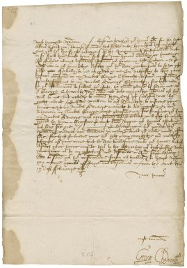 Letter from George Chaworth, written from court, to Elizabeth Hardwick Talbot, Countess of Shrewsbury, Hardwick
