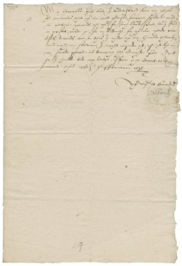Letter from William Brooke, Baron Cobham, the court at Richmond, to Elizabeth Hardwick Talbot, Dowager Countess of Shrewsbury, Hardwick