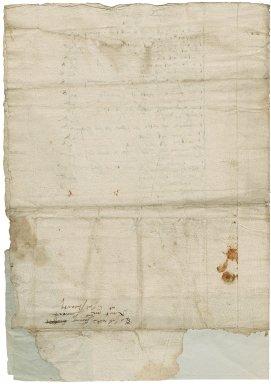 Letter from William Cavendish, Earl of Devonshire, Clare Hall Clare College, Cambridge, to Marcella Linacre, Chatsworth